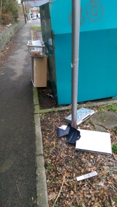 Fly tipping - Abersychan Clothes Bank