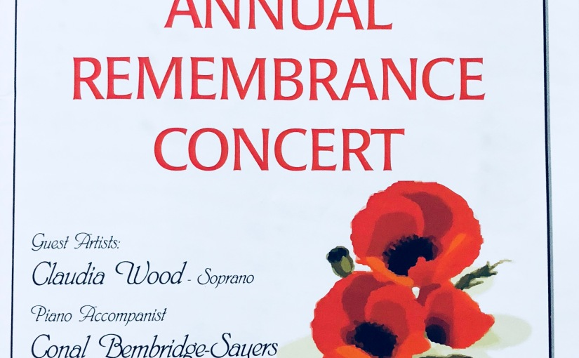 Garndiffaith Gleemen Annual Remembrance Concert2017