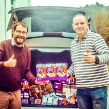 Donation of Easter eggs from Bronafon and myself to Noddfa Church for their Youth Clubs.