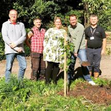 Tree Planting at Noddfa marking 10 years of Bronafon Housing