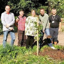 Tree Planting at Noddfa marking 10 years of Bronafon Housing