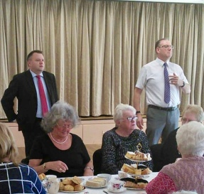 With Nick Thomas-Symonds MP addressing the Free ward Afternoon Tea