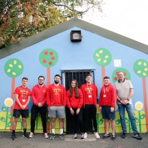 Thanks to Torfaen Play for painting a mural to enhance the Youth Building in the ward