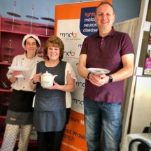 Nick and Jen from Gabbys Diner - Raising Funds for MNDA